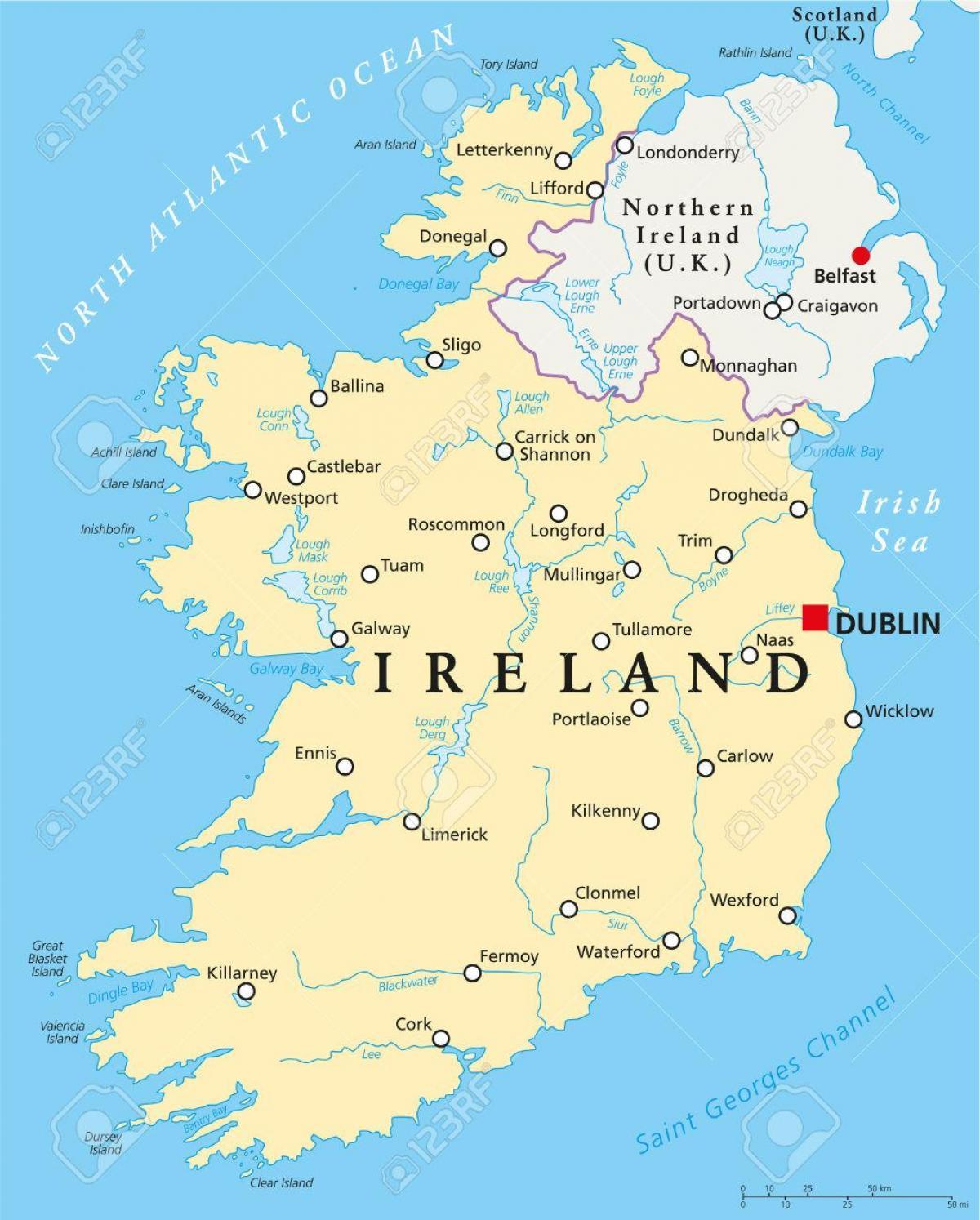 Dubln irlanda mapa  mapa de Dubln irlanda Irlanda